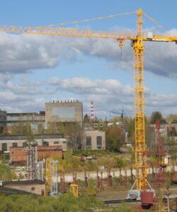 Башенные краны на строительных объектах Москвы и Московской области