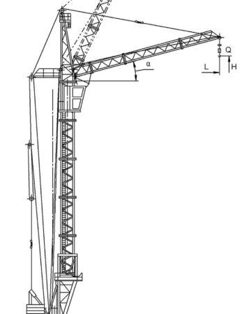 Схема-Кран башенный КБ-405